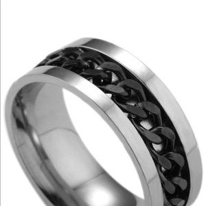 Other - Titanium black chain full rotation ring